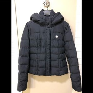 Abercrombie & Fitch navy down jacket